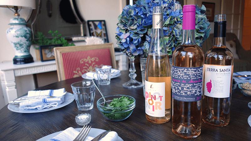three rose wines
