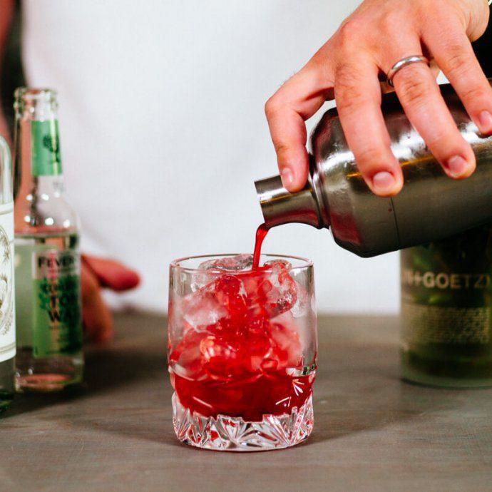 The Taste SF makes a blackberry elderflower gin and tonic