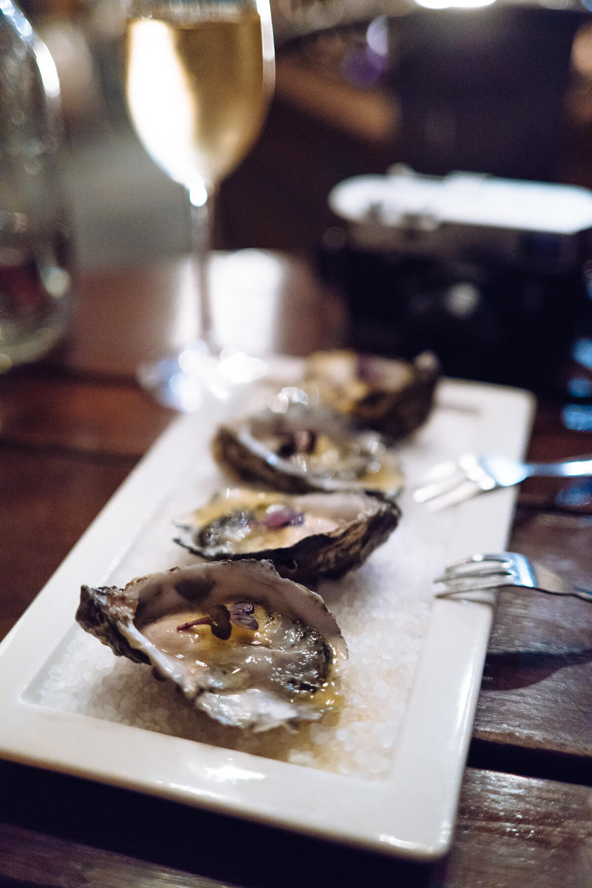 Try the oysters at The Lark in Santa barbara, The Taste SF