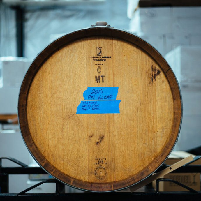 wine barrel from crawford family winery