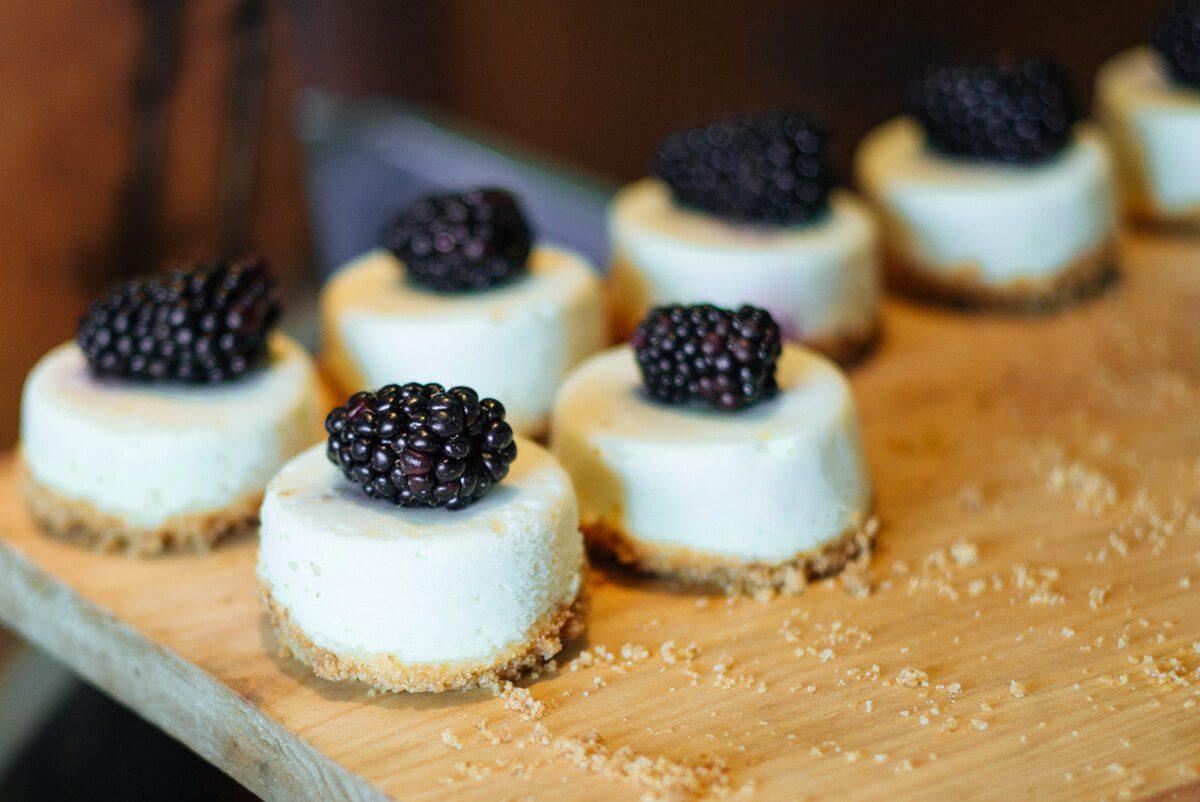 lemon blackberry cheesecake at Saturday Farmers Market Brunch at Navio The Ritz-Carlton Half Moon Bay
