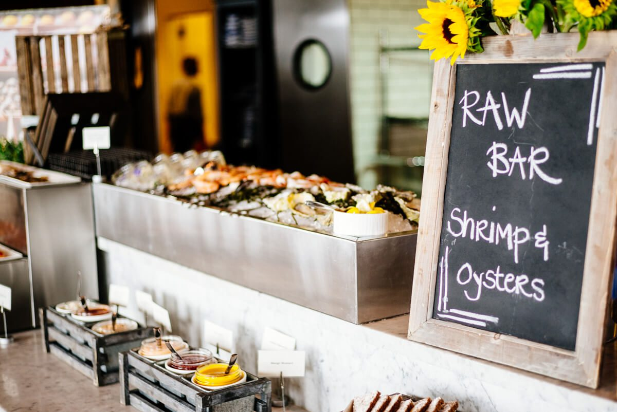 Raw Bar at Saturday Farmers Market Brunch at Navio The Ritz-Carlton Half Moon Bay