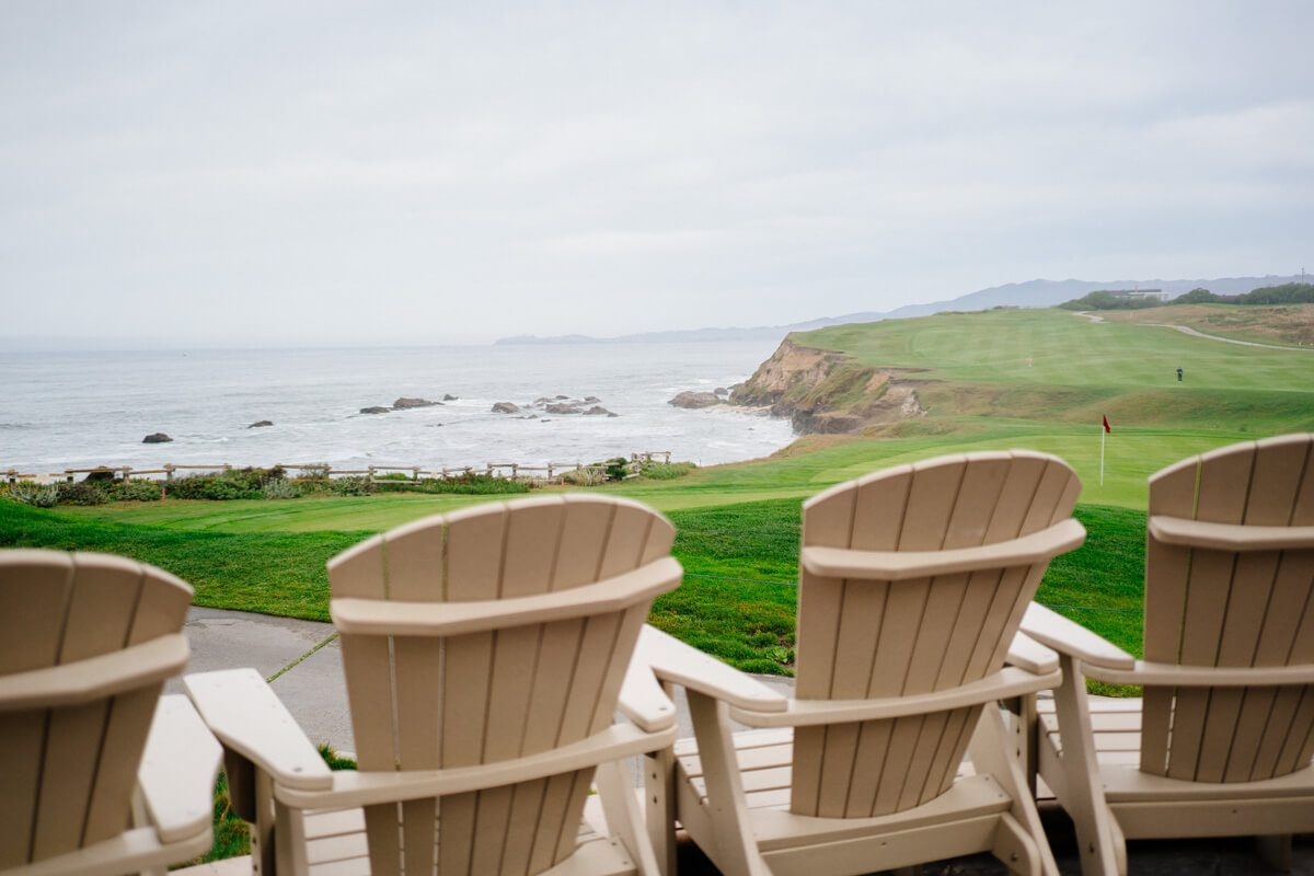 Overlooking the bay in chairs at The Ritz-Carlton Half Moon Bay