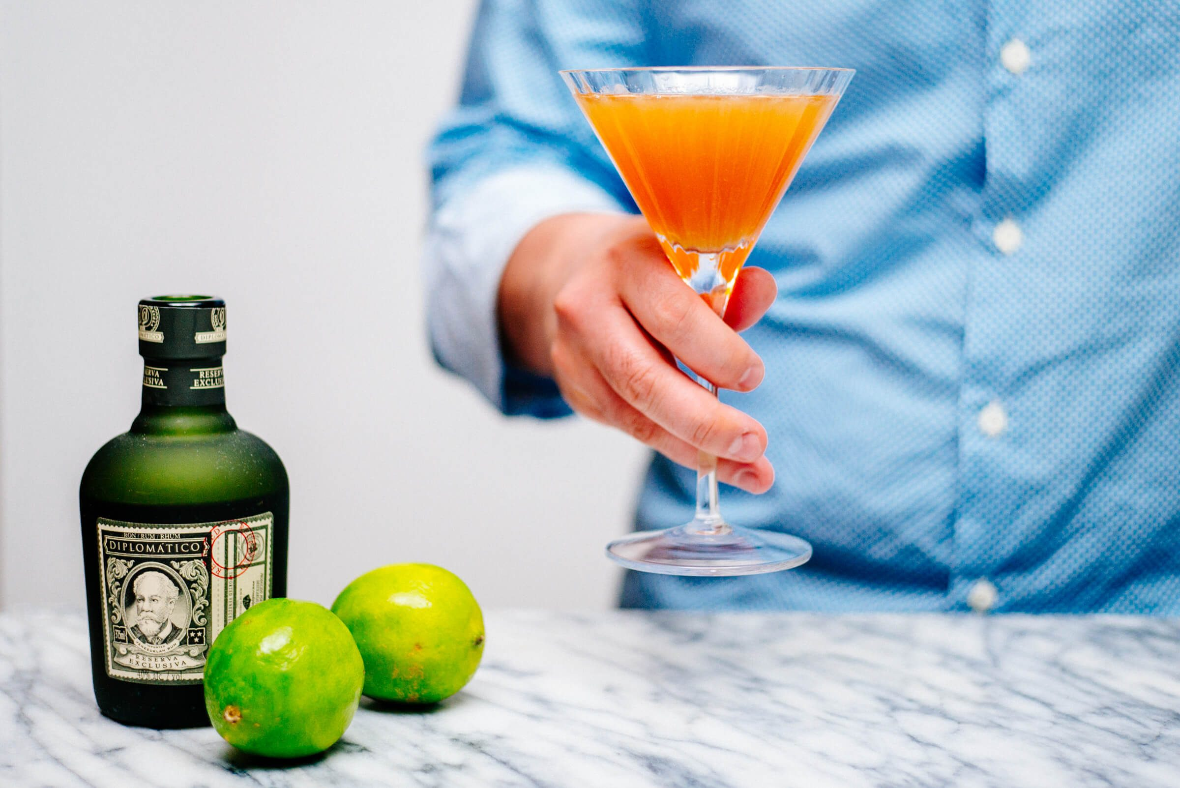 Lemon Verbena Daiquiri with Diplomático Reserva Exclusiva