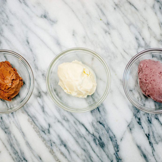 three types of gelato or ice cream by The Taste SF