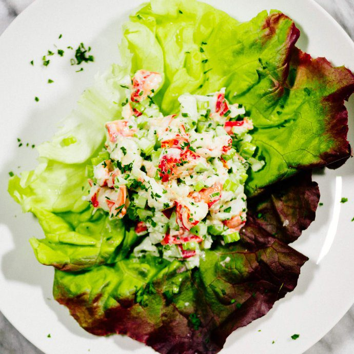 The Taste SF loves to make seafood salads with shrimp, crab, or lobster.