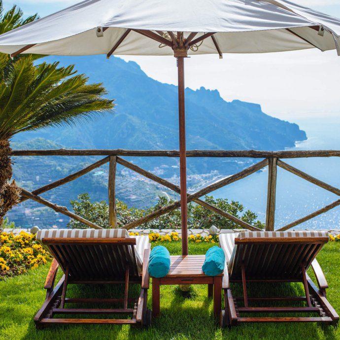 The terraces of the best hotel in Ravello, Palazzo Avino in Ravello, The Taste SF