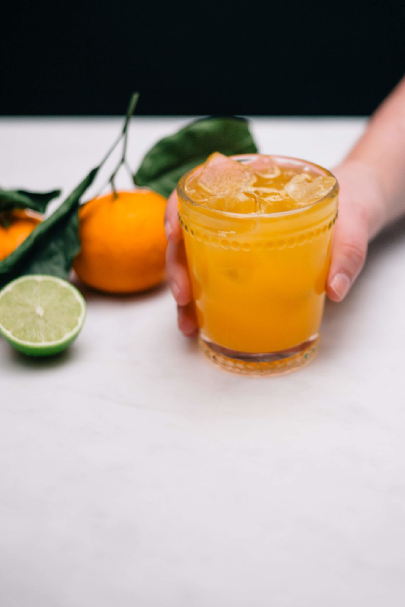 Indian Summer Cocktail made with scotch and clementines