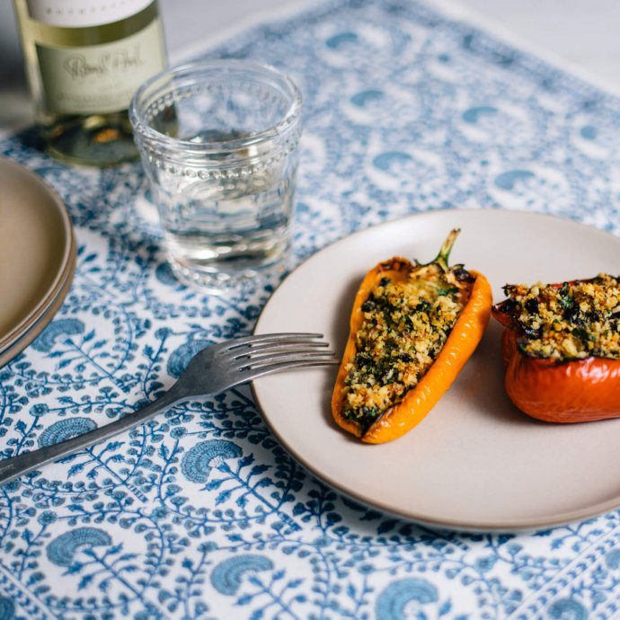 Easily Italian stuffed peppers for a simple weeknight meal made with olives and anchovies by The Taste SF