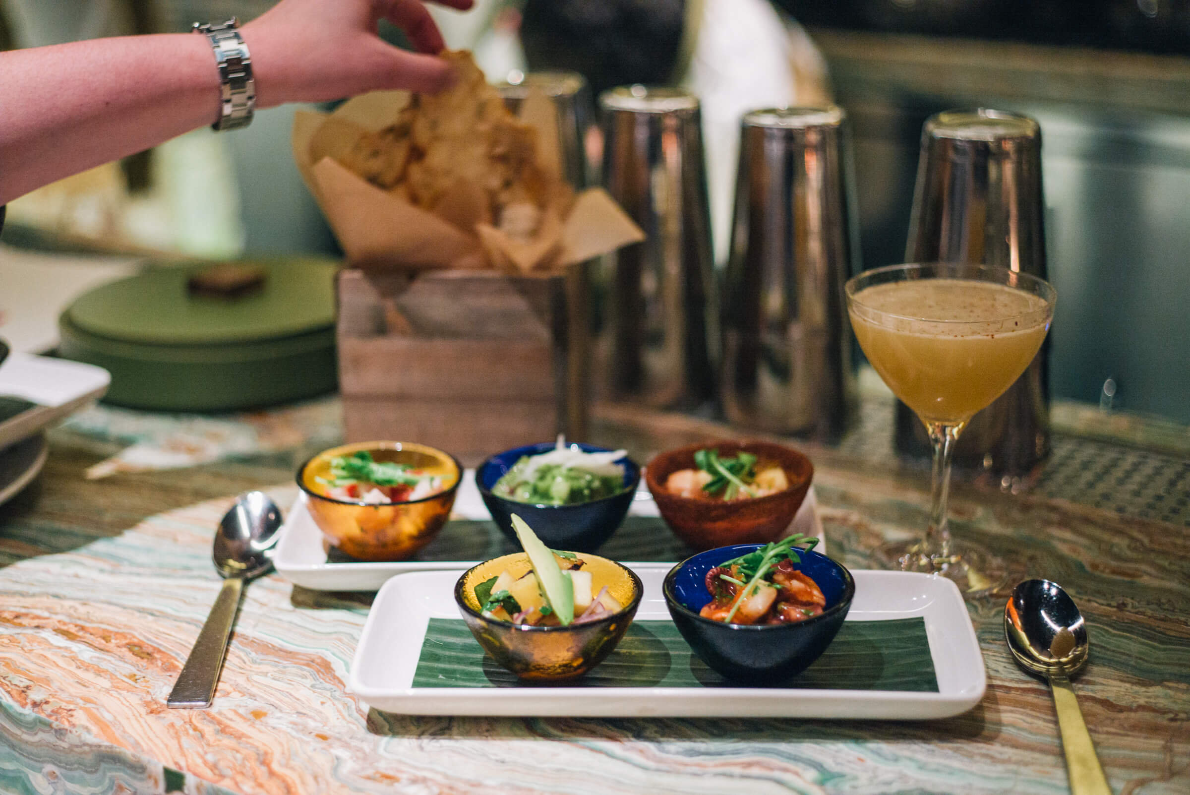 Ceviche sampler at Lena Brava restaurant in Chicago, The Taste SF