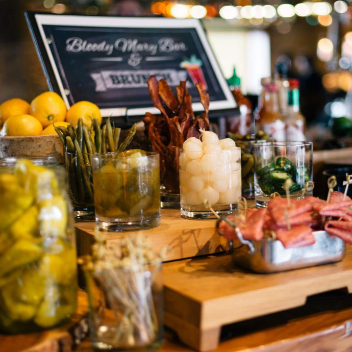 Bloody Mary and Mimosa bar at Brunch at Manzanita at The Ritz-Carlton Lake Tahoe CA, The Taste SF