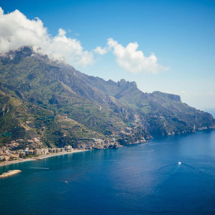 The view from Palazzo Avino in Ravello, The Taste SF