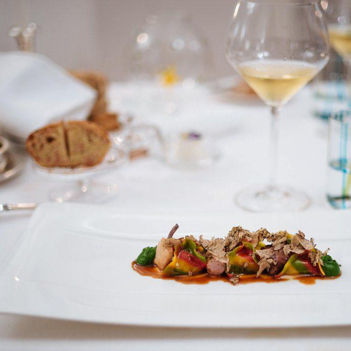 Stuffed Rabbit Ravioli at Rossellini's Restaurant in Palazzo Avino, Ravello Italy, The Taste SF