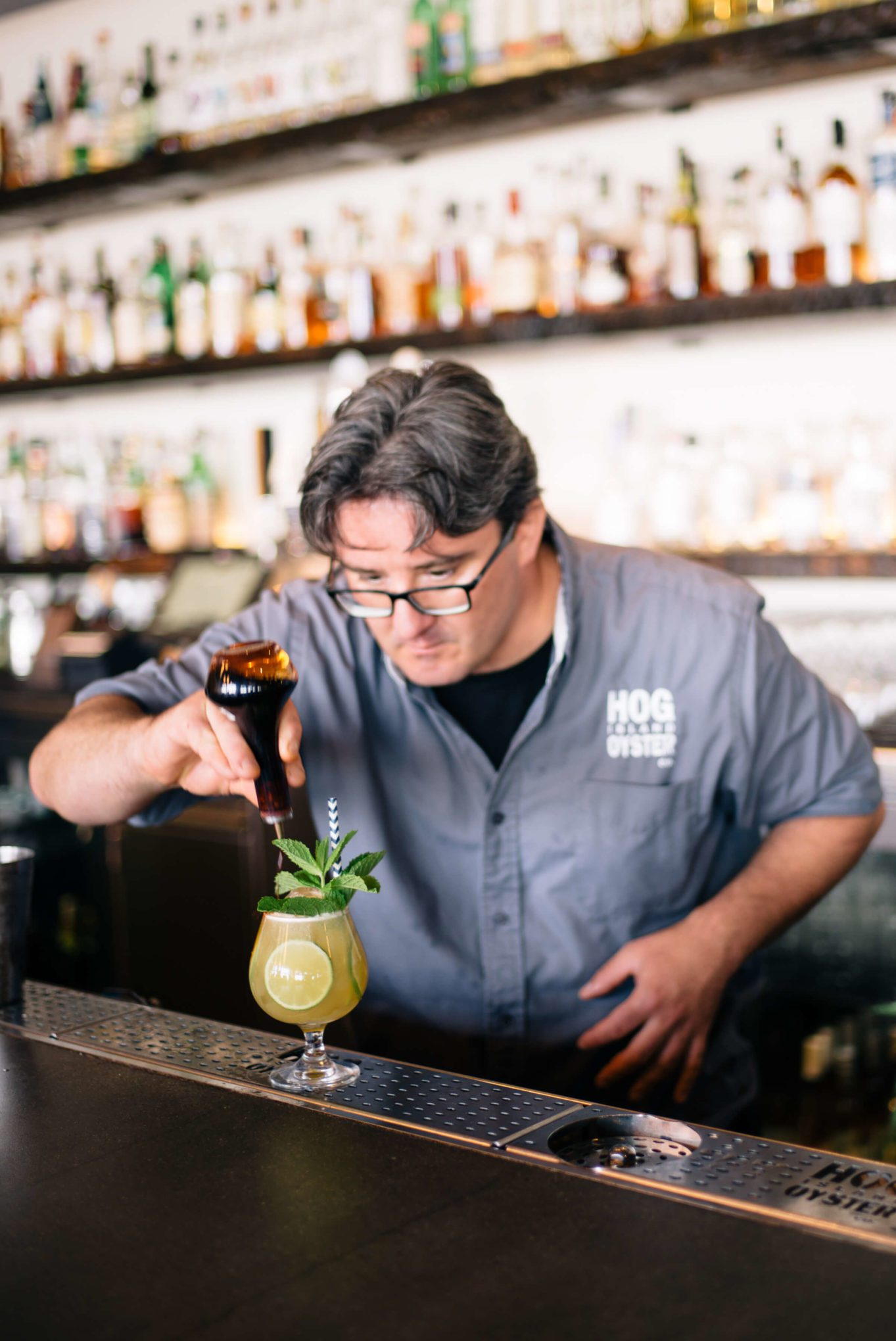 Bitters for the Summer Cocktails: Hog Island Saul Ranella Sacred Cenote Mezcal Amaro Cocktail Recipe, restaurant recipe, The Taste SF