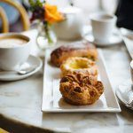 B Patisserie breakfast with French pastriess and coffee including French kouign amanns in San Francisco, The Taste SF