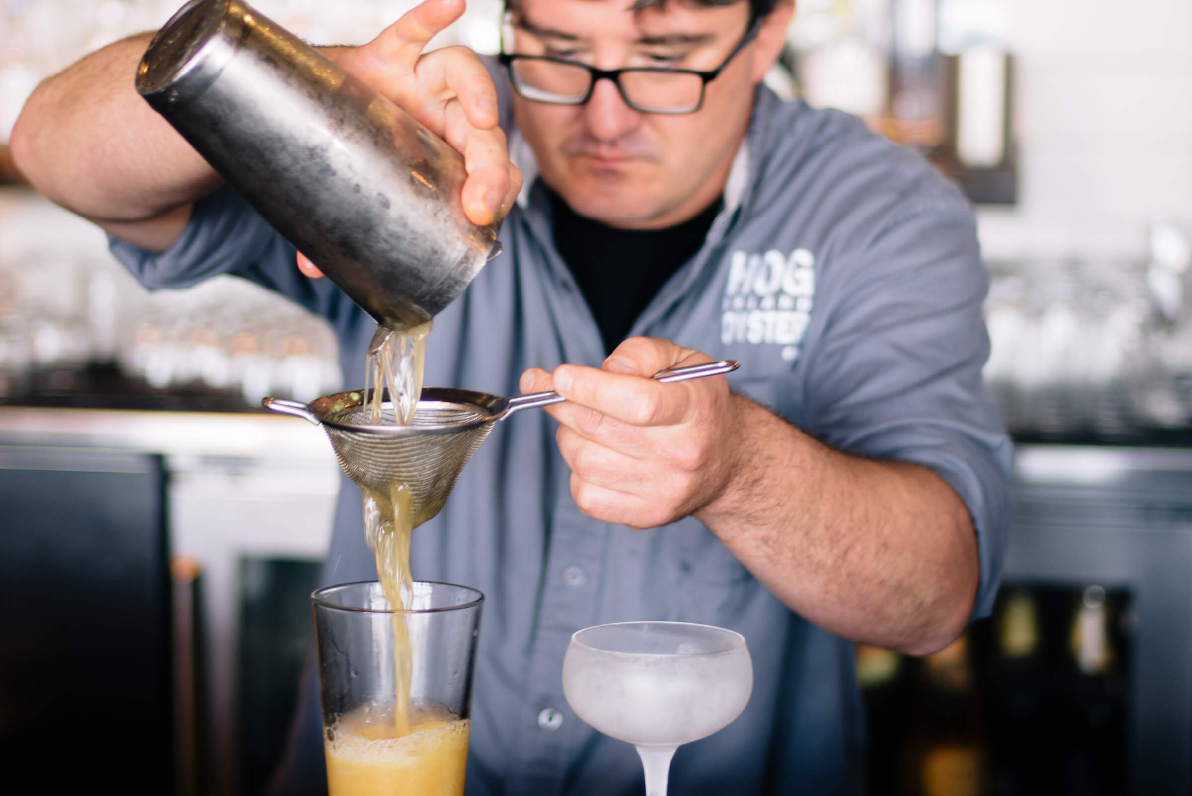 Saul Ranella makes a Pacific Drift Beer Cocktail from Hog Island Oyster Company, The Taste SF