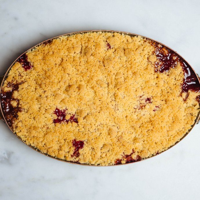Easy dessert instead of pie or cake, Cranberry Pear Crisp Recipe, perfect for thanksgiving, The Taste SF