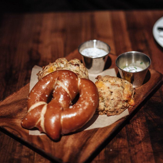 The Manhattan Beach Post in Los angeles has the best biscuits in manhattan beach for brunch or dinner, the taste sf