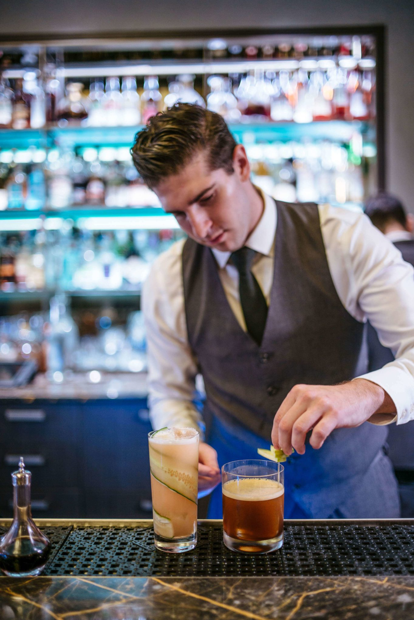 Make this apple whiskey cocktail this fall from Eleven madison Park in NYC, the Taste SF