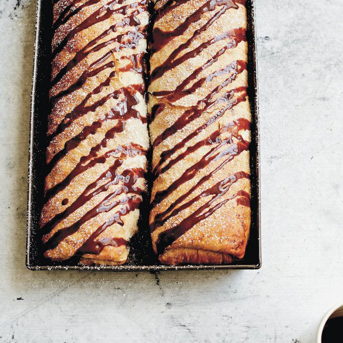 Make this Croatian Pear Strudel with chocolate sauce for dessert from Dalmatia cookbook - get the recipe on thetastesf #recipe