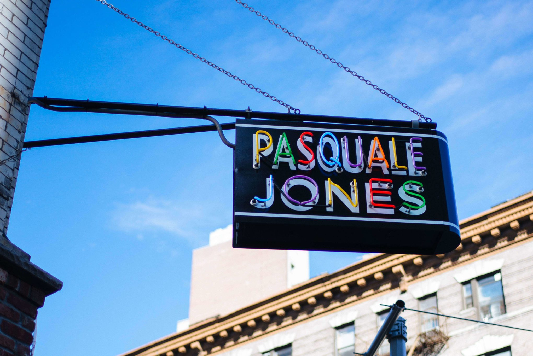 Pasquale Jones has some of the best pizza in Soho - try their wood fired pizza