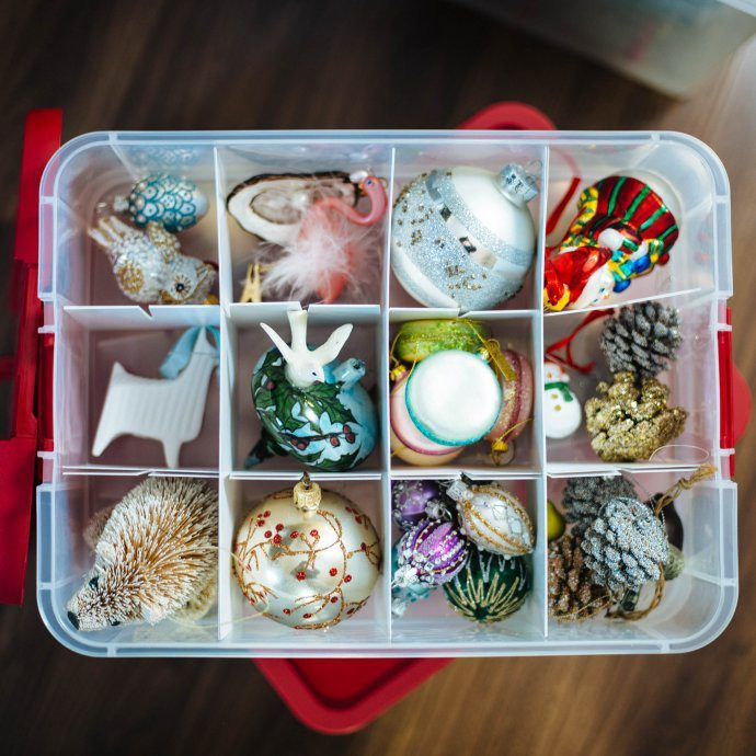 Store and organize your Christmas ornaments and holiday decorations, TheTasteSF
