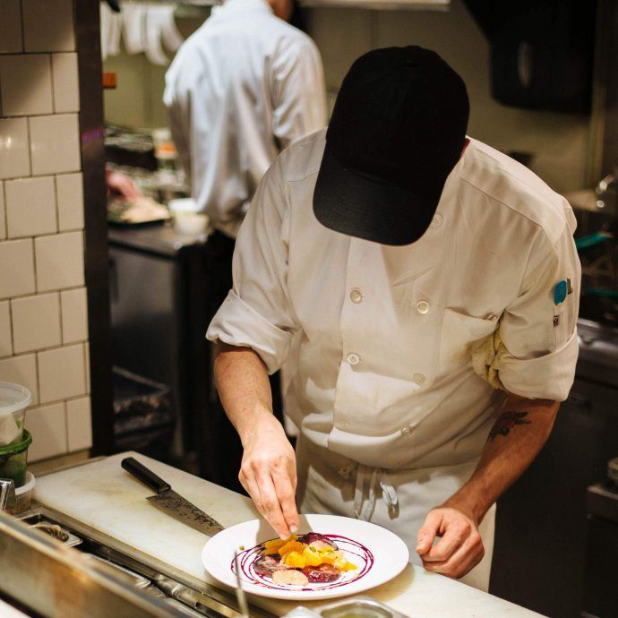 Vernick is one of the most acclaimed restaurants in Philadelphia. Chef Greg Vernick was named Best Chef: Mid-Atlantic by the James Beard Foundation in 2017, so we couldn't wait to check out this cute little restaurant near Rittenhouse Square. Here one of the chefs prepares their famous toast. #philadelphia #travel #restaurant #food #thetastesf