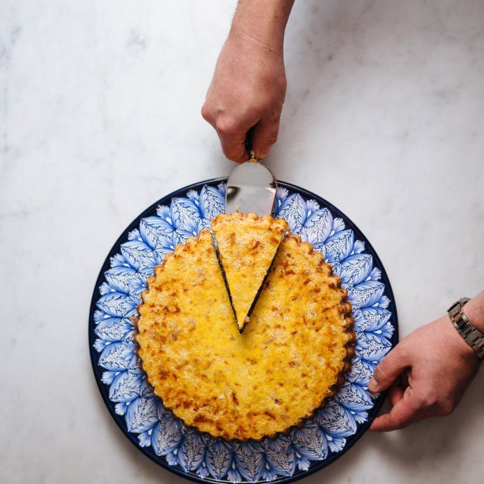 Make this easy potato torta made with potatoes, salami or ham, and mozzarella cheese from The Tase SF