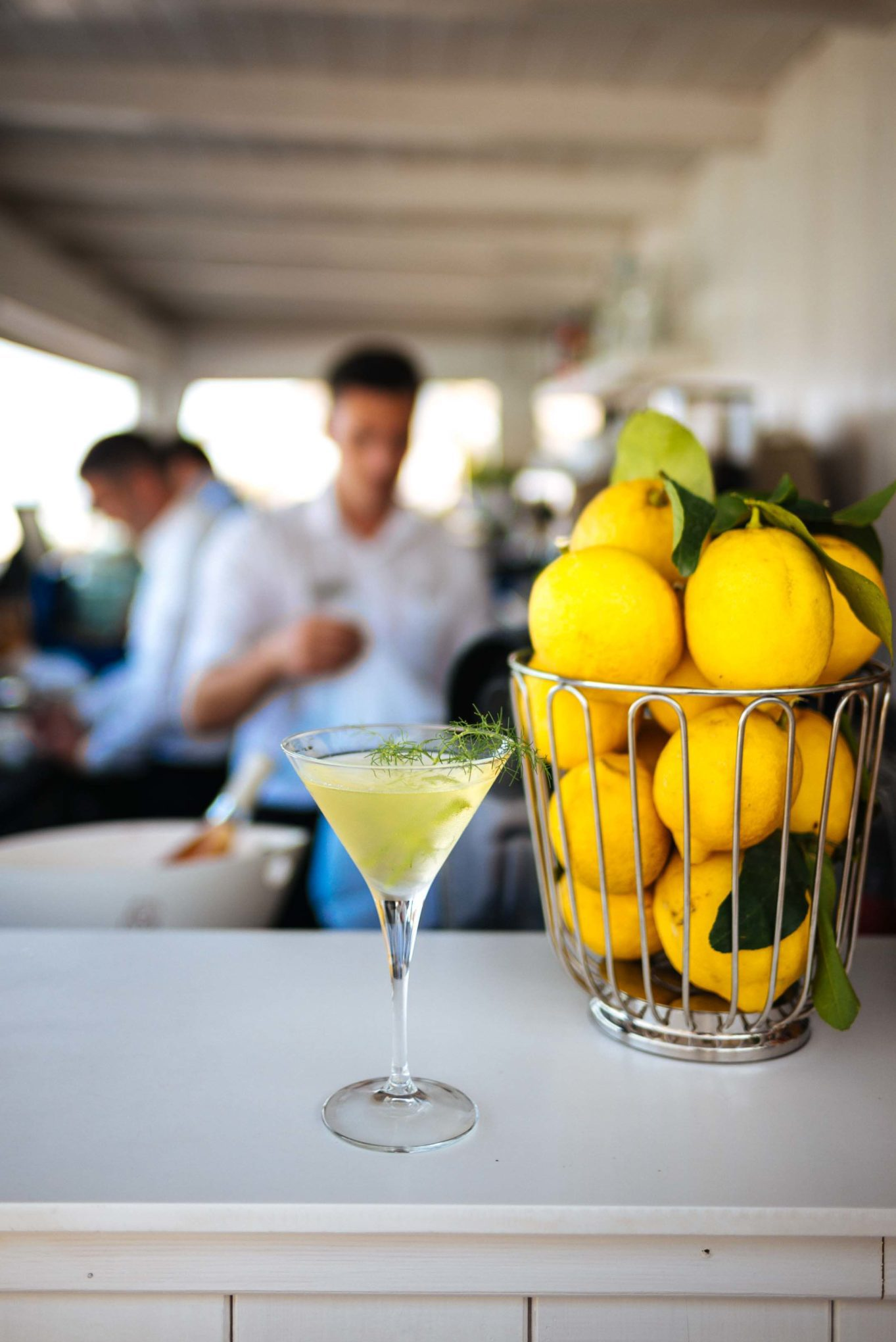 The Taste SF shares the recipe for the Mare Nostrum gin cocktail at La Plage Resort, Taormina Sicily Italy