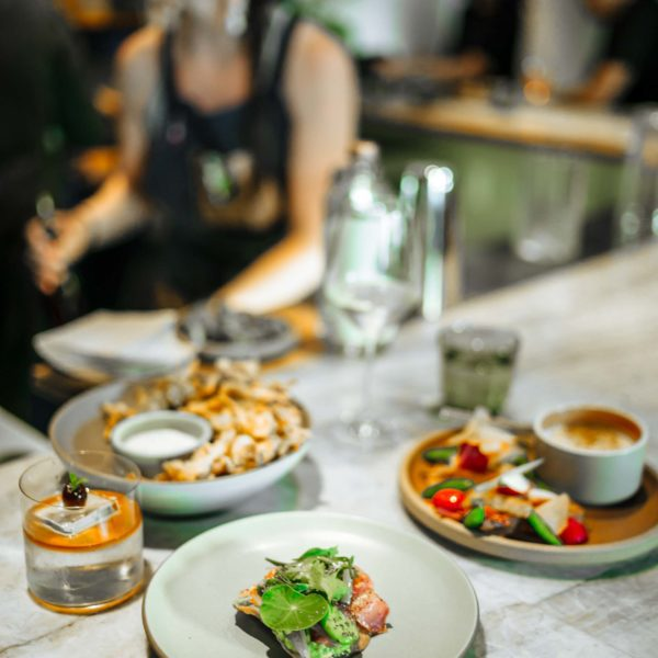 """True Laurel has the best bar food in San Francisco from david barzelay, try the tostada, hot crab dip, and fried hen of the woods mushrooms with """"sour cream n'alliums"""" dip"""