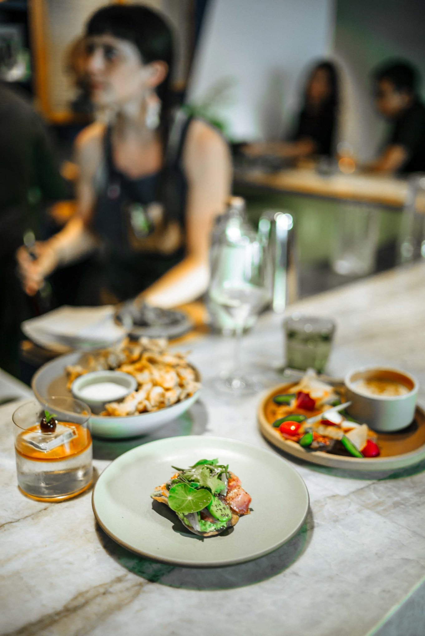 "True Laurel has the best bar food in San Francisco from david barzelay, try the tostada, hot crab dip, and fried hen of the woods mushrooms with ""sour cream n'alliums"" dip"