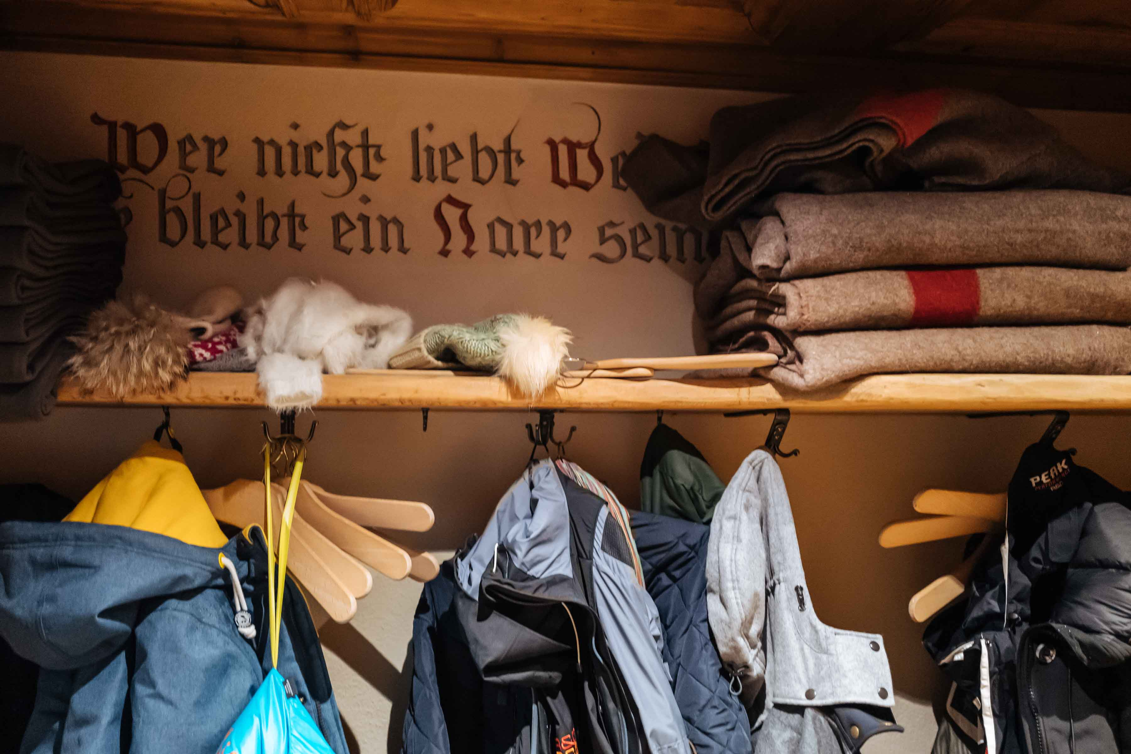 Hang up your coats, hats, and gloves and Cozy up in the Klosters Restaurant Hohwald for lunch or dinner