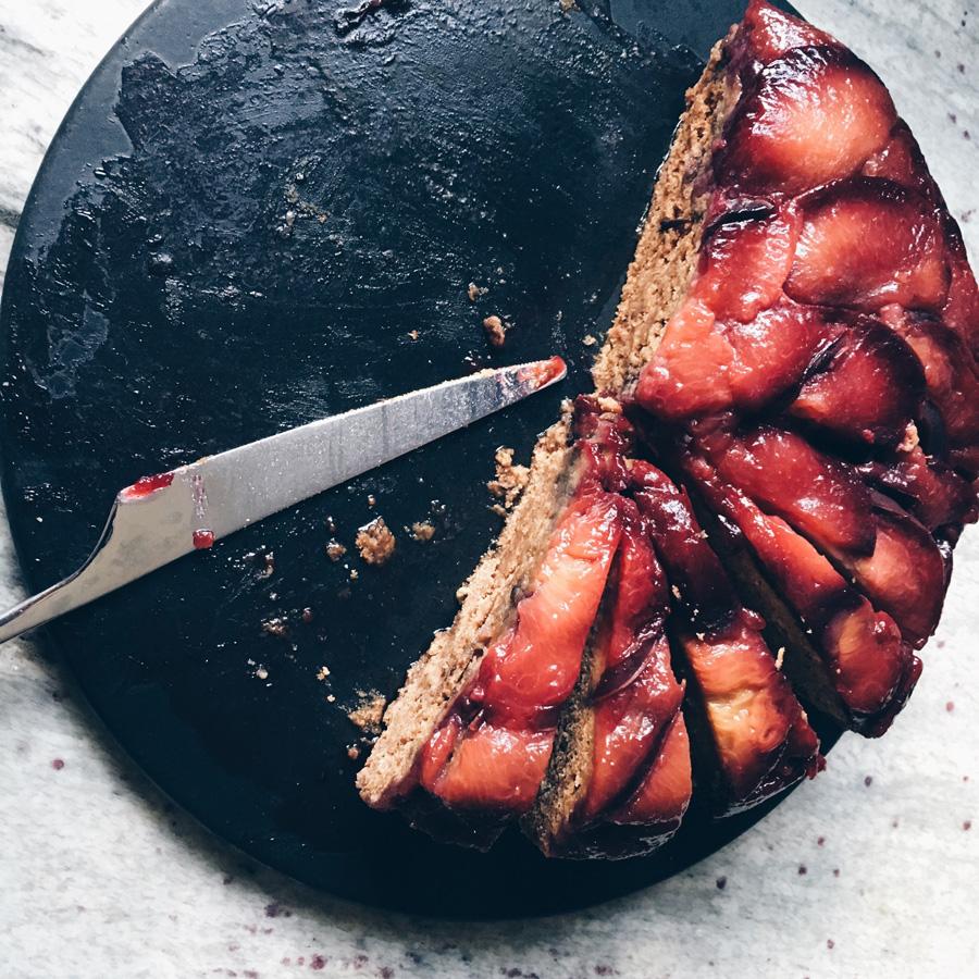 Vegan Plum Upside Down Cake