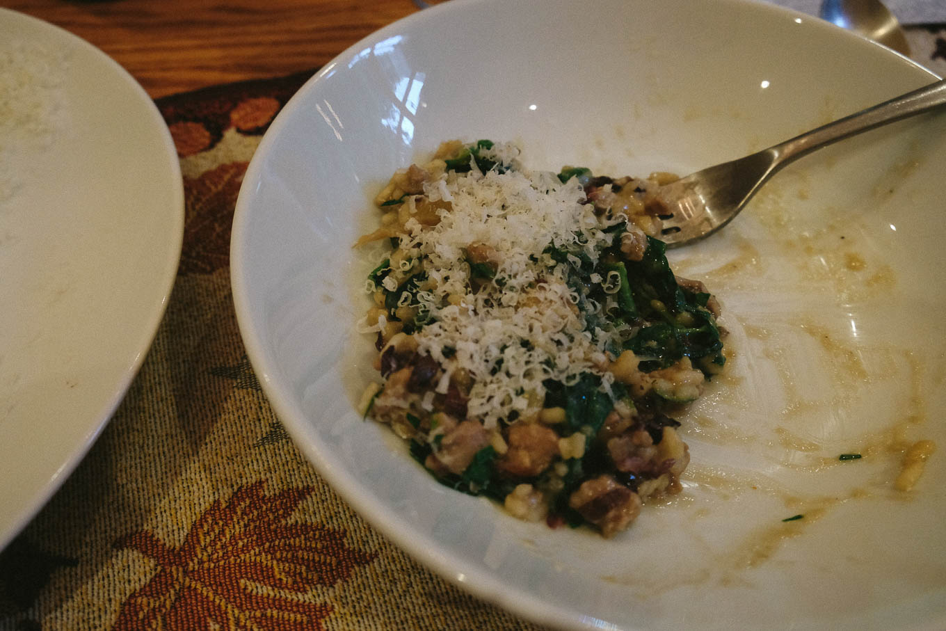 Risotto with Beans, Sausage, and Bitter Greens | the Tastiest Book