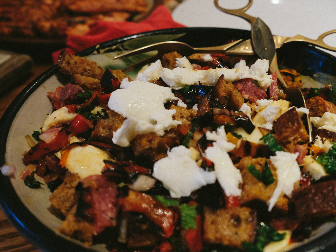Roasted Pepper Panzanella | the Tastiest Book