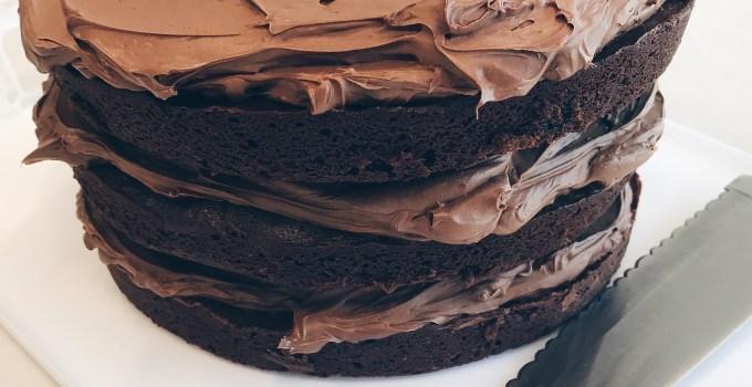 Chocolate Cake with Chocolate Buttercream