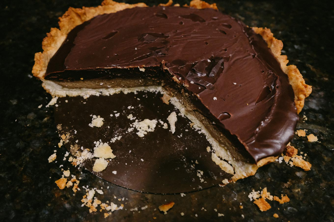 Coffee Chocolate Tart adapted from Maison Kayser | the Tastiest Book