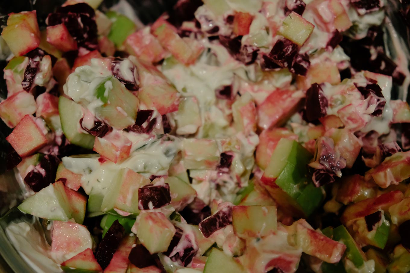 Hot Pink Beet and Apple Salad | the Tastiest Book