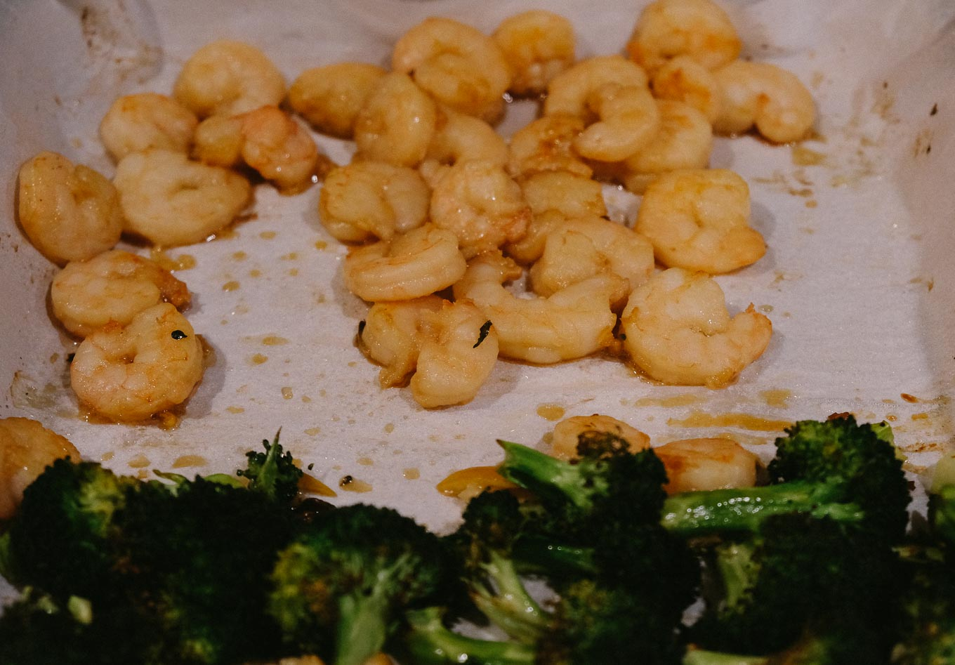 Sheet Pan Shrimp with Sesame Broccoli | the Tastiest Book