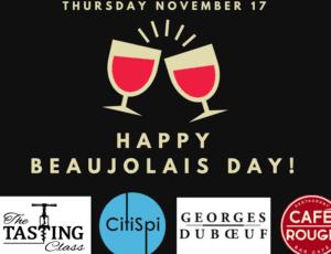 beaujolais day wine tasting