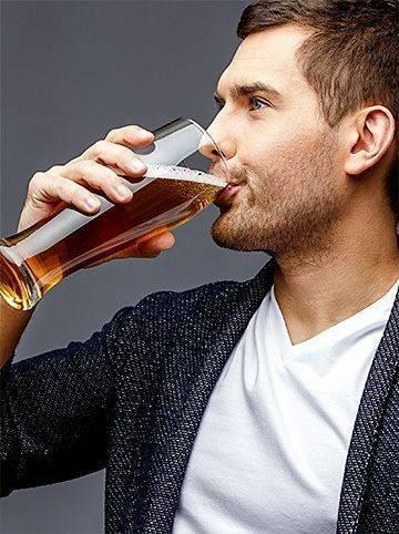 Man tasting belgian beer