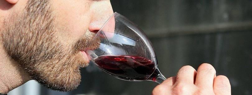 Wine tasting by a man