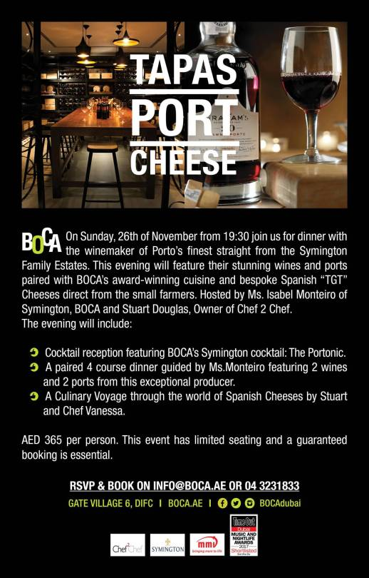 Port degustation Food Pairing Meal