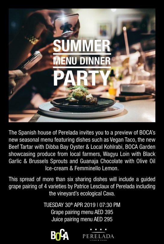 Summer Menu Dinner Party