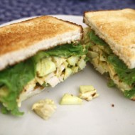 Curried Chicken Sandwich with Green Apple and Raisins