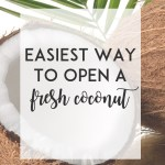 Easiest Way To Crack Open a Fresh Coconut