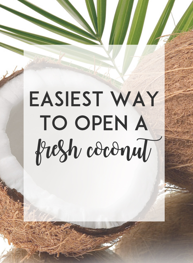 Opening a fresh coconut is easier than you'd think!