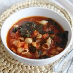 Roasted Garlic Minestrone Soup