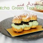 Matcha Green Tea and Azuki Beans Eclairs