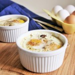 Eggs en Cocotte with Mushrooms and Goat Cheese